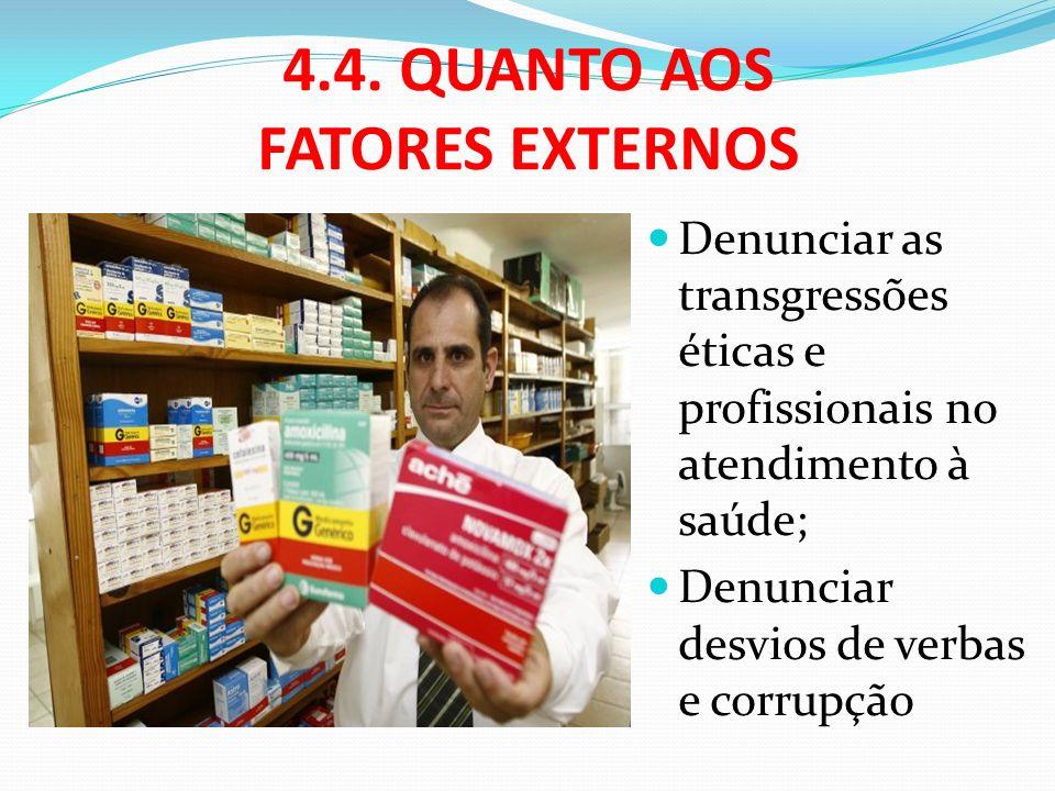 4.4. QUANTO AOS FATORES EXTERNOS