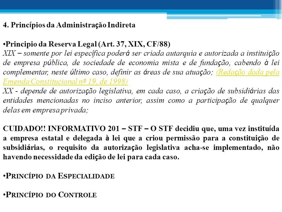 4. Princípios da Administração Indireta