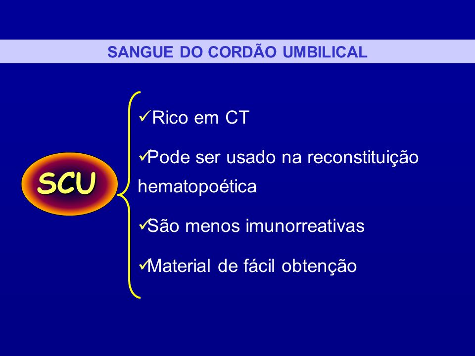 SANGUE DO CORDÃO UMBILICAL