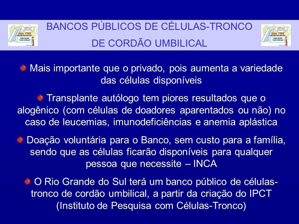BANCOS PÚBLICOS DE CÉLULAS-TRONCO