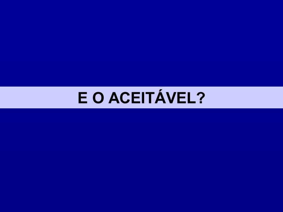 E O ACEITÁVEL