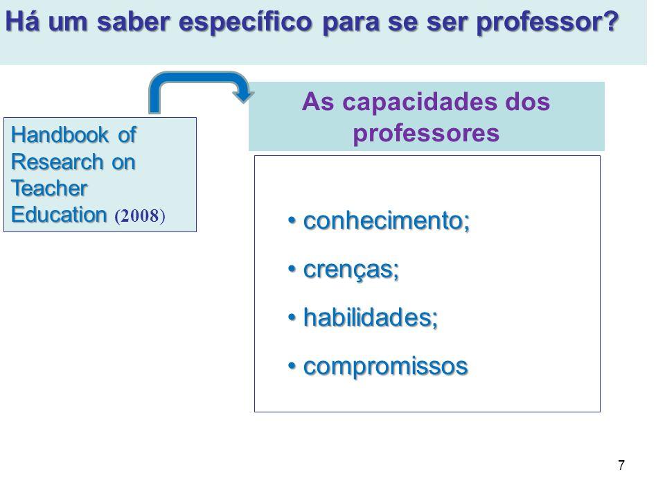 As capacidades dos professores