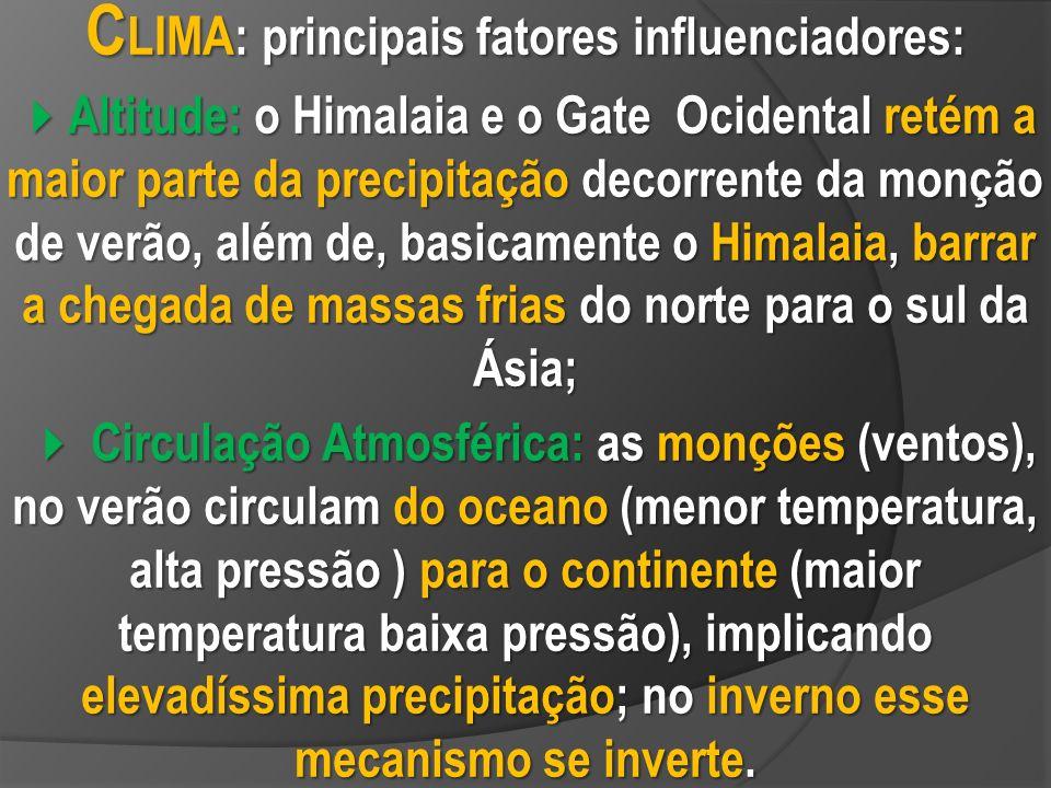 CLIMA: principais fatores influenciadores: