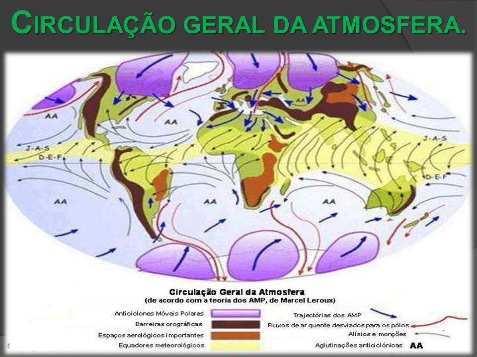 CIRCULAÇÃO GERAL DA ATMOSFERA.