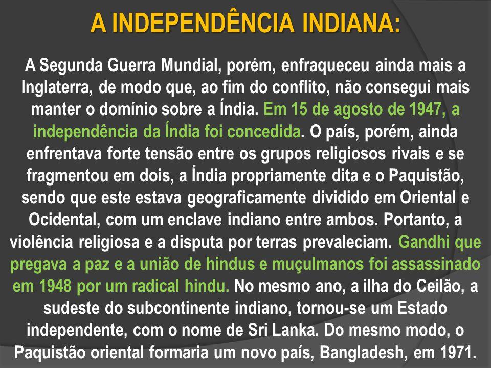 A INDEPENDÊNCIA INDIANA: