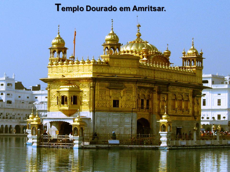 Templo Dourado em Amritsar.