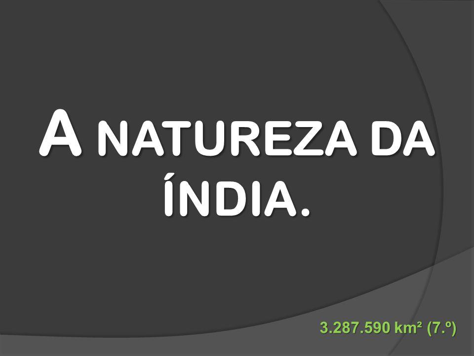 A NATUREZA DA ÍNDIA. 3.287.590 km² (7.º)