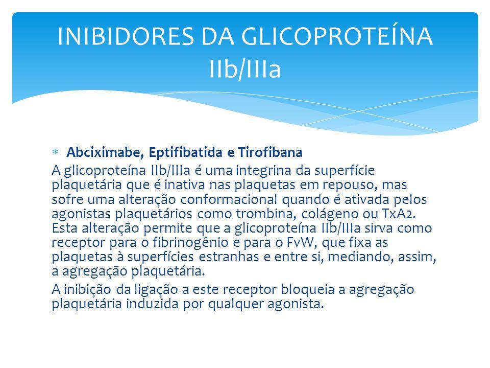 INIBIDORES DA GLICOPROTEÍNA IIb/IIIa