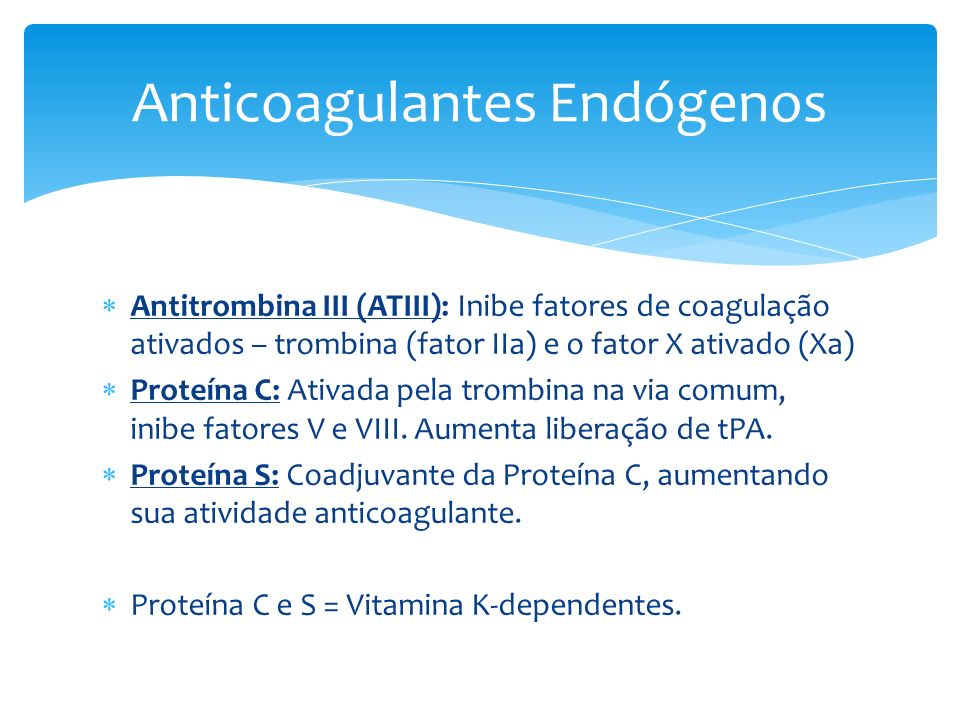 Anticoagulantes Endógenos
