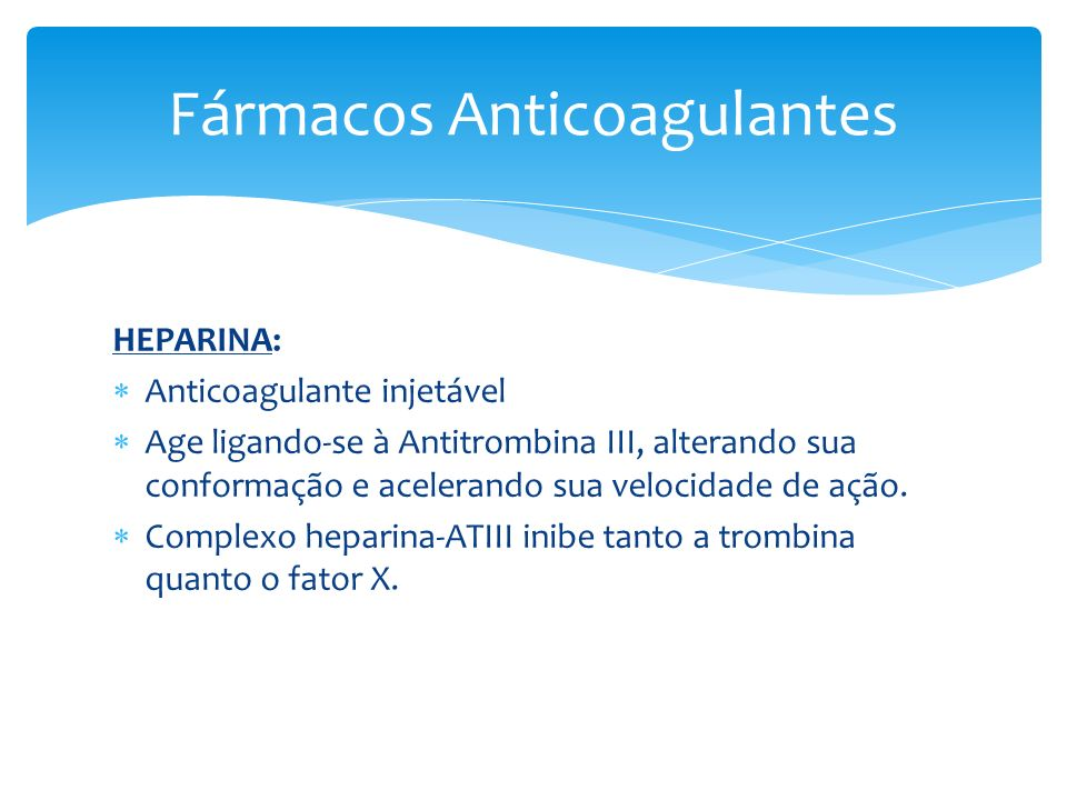 Fármacos Anticoagulantes