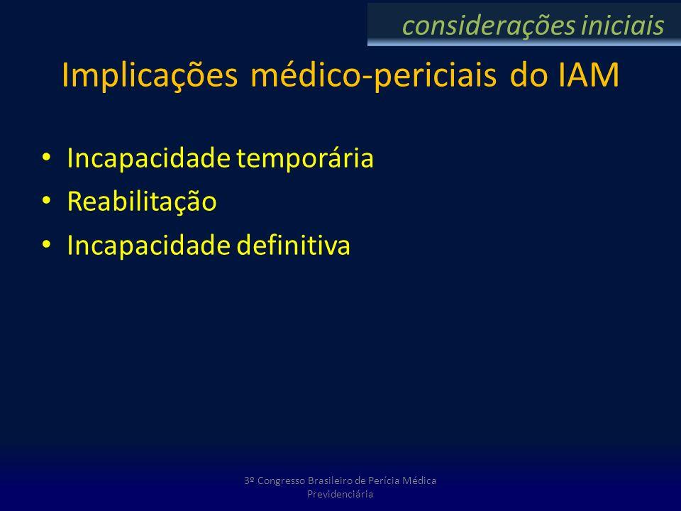 Implicações médico-periciais do IAM