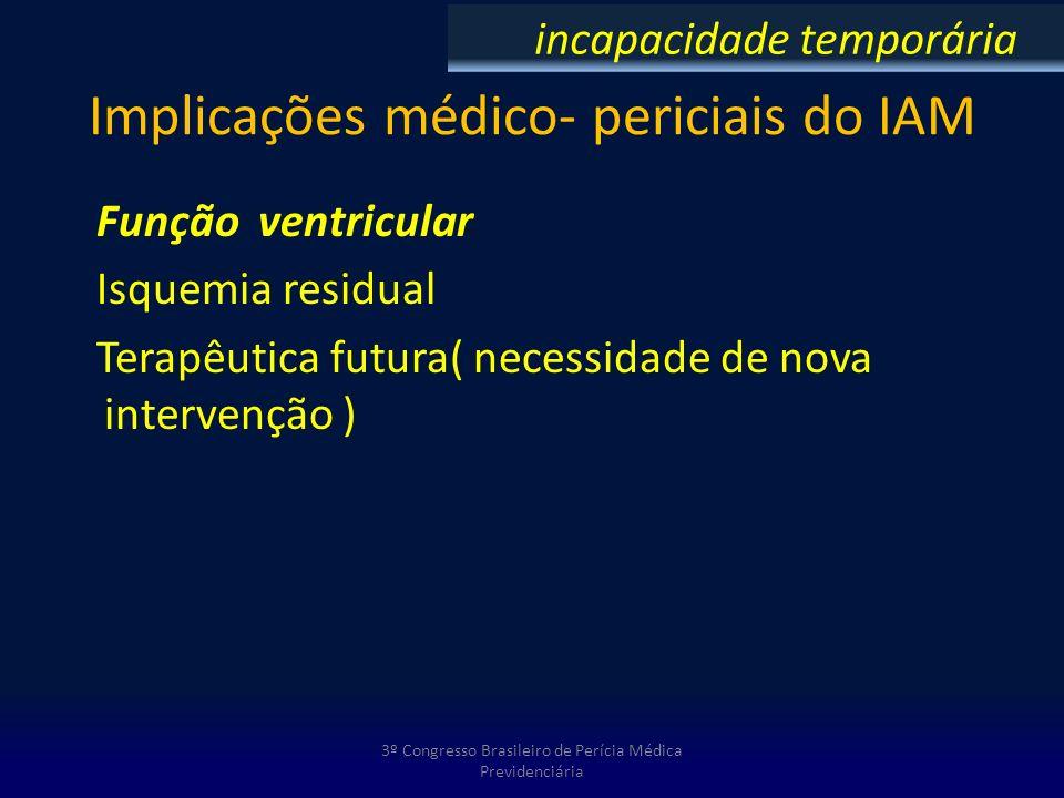 Implicações médico- periciais do IAM