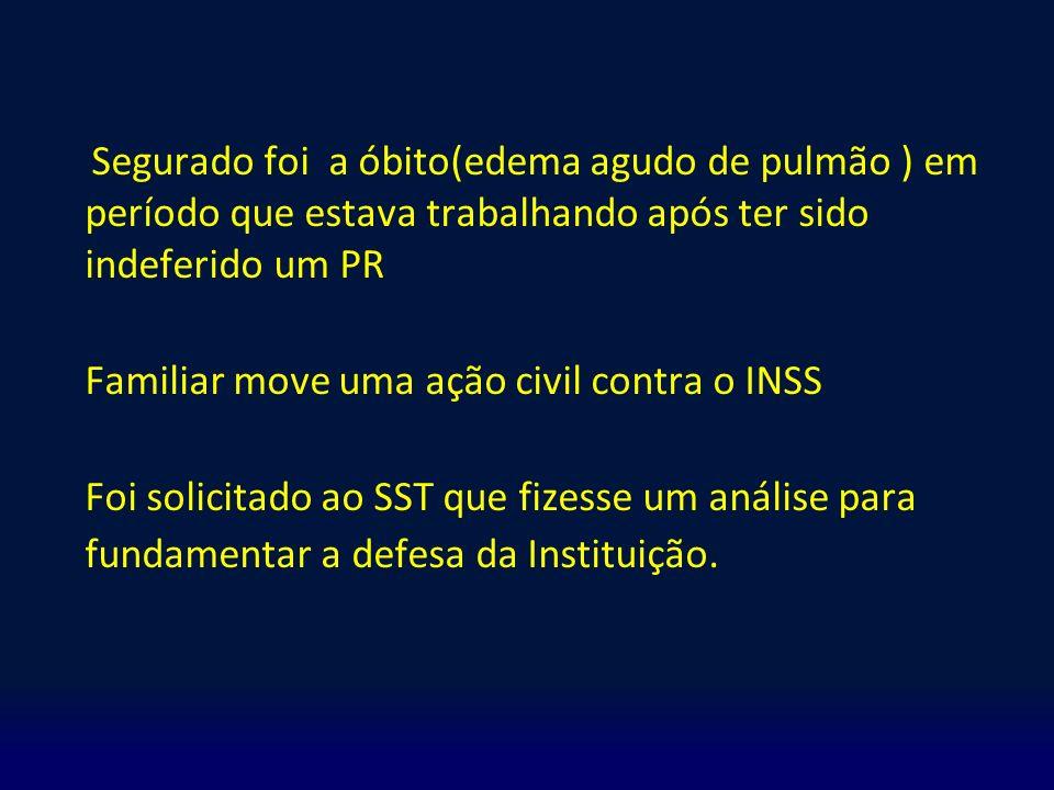 Familiar move uma ação civil contra o INSS