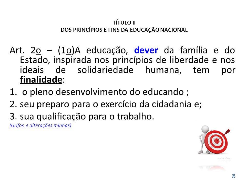 TÍTULO II DOS PRINCÍPIOS E FINS DA EDUCAÇÃO NACIONAL