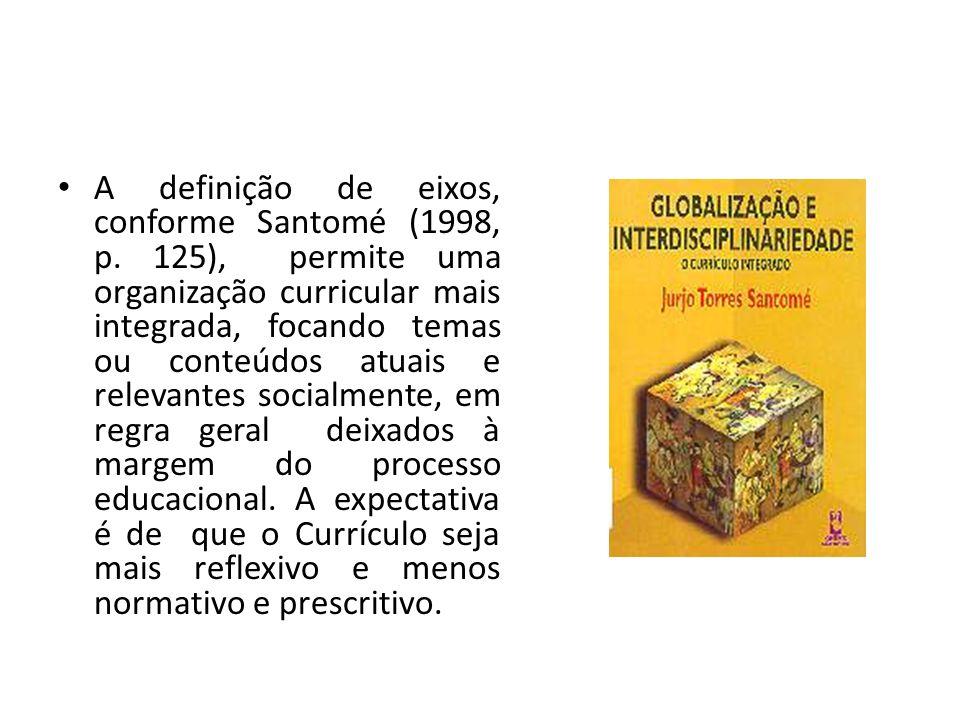 A definição de eixos, conforme Santomé (1998, p