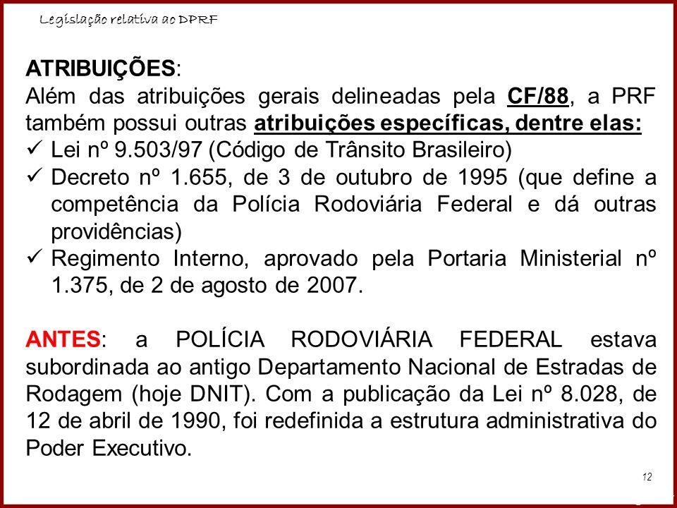 Lei nº 9.503/97 (Código de Trânsito Brasileiro)