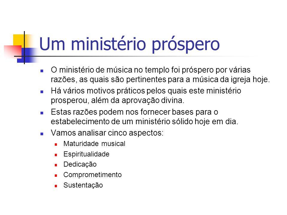 Um ministério próspero