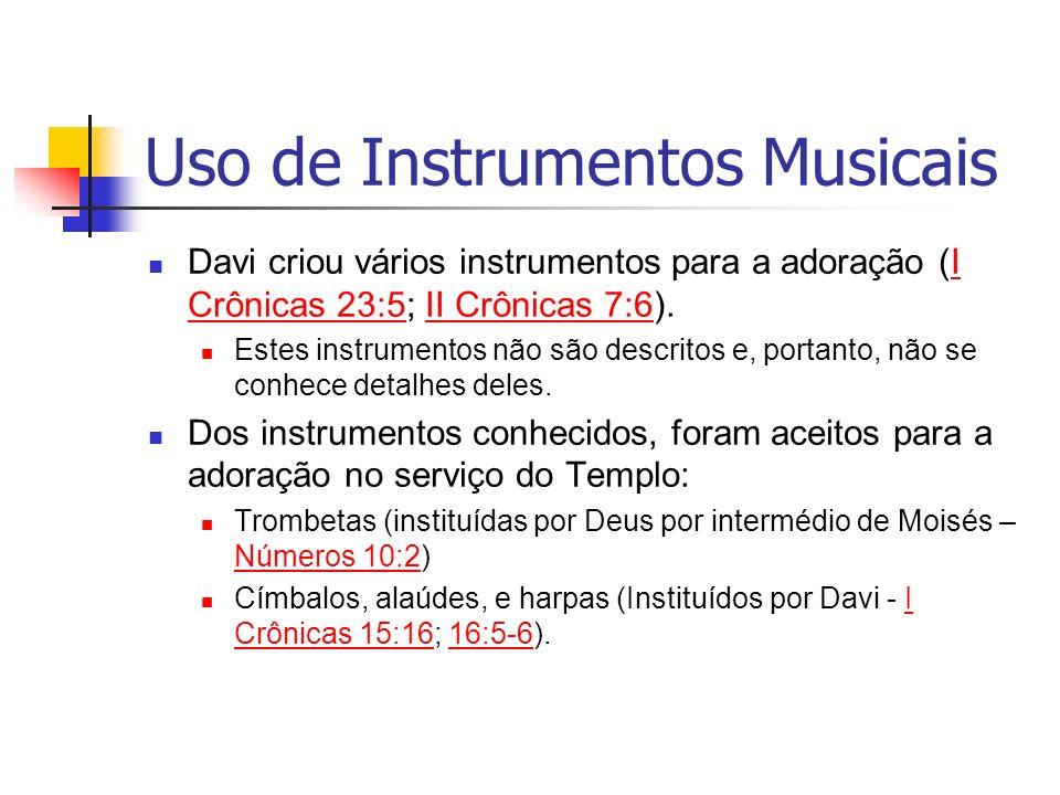 Uso de Instrumentos Musicais