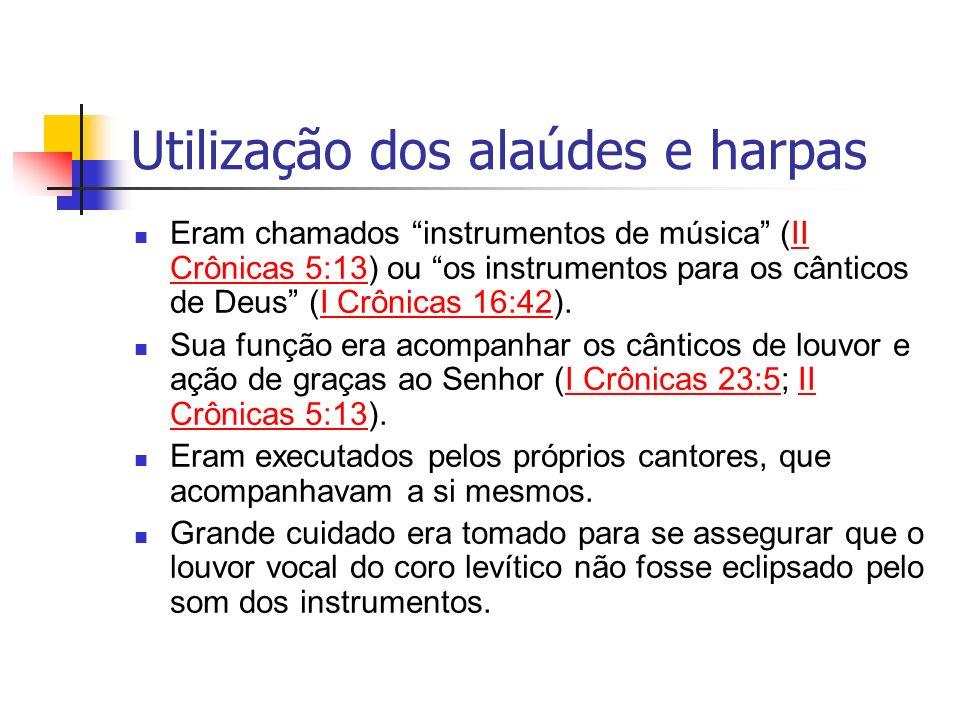 Utilização dos alaúdes e harpas