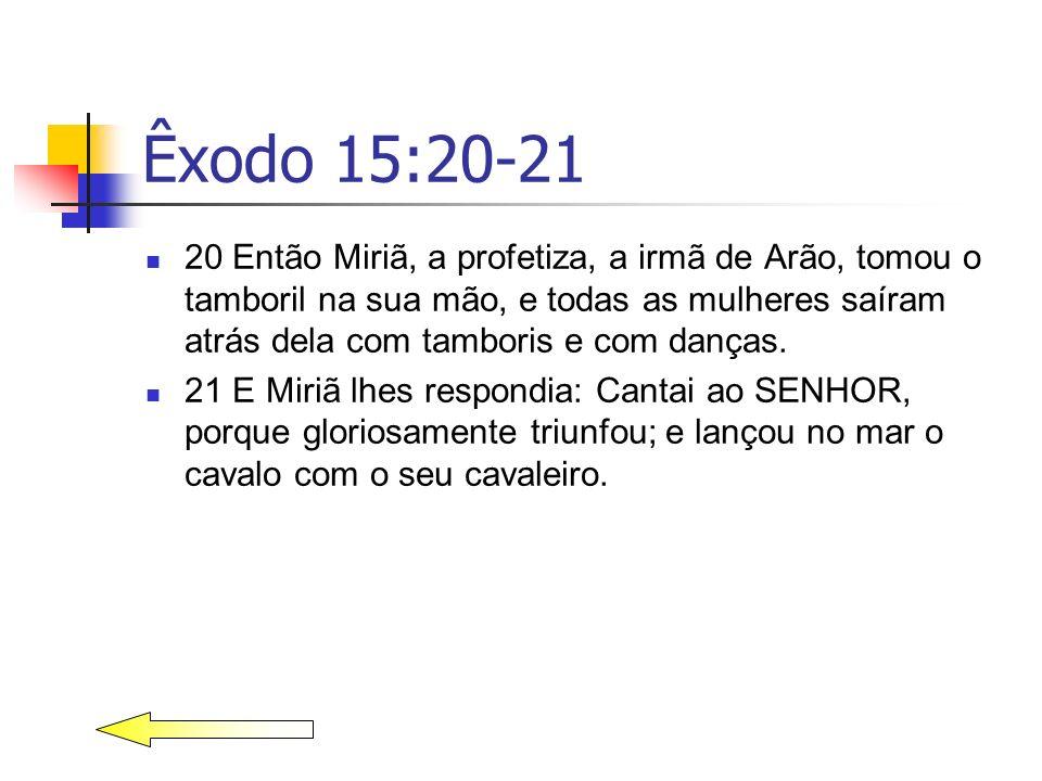 Êxodo 15:20-21