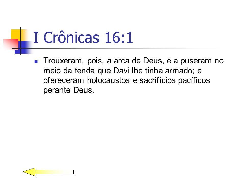 I Crônicas 16:1
