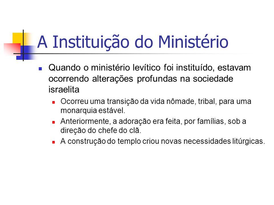 A Instituição do Ministério