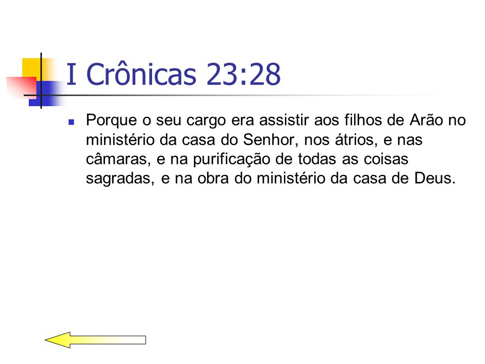 I Crônicas 23:28