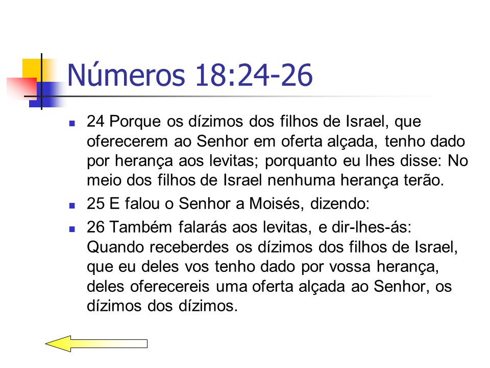 Números 18:24-26