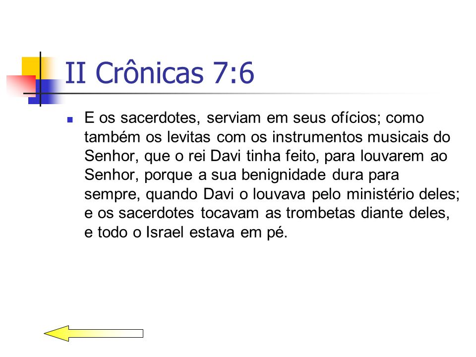 II Crônicas 7:6