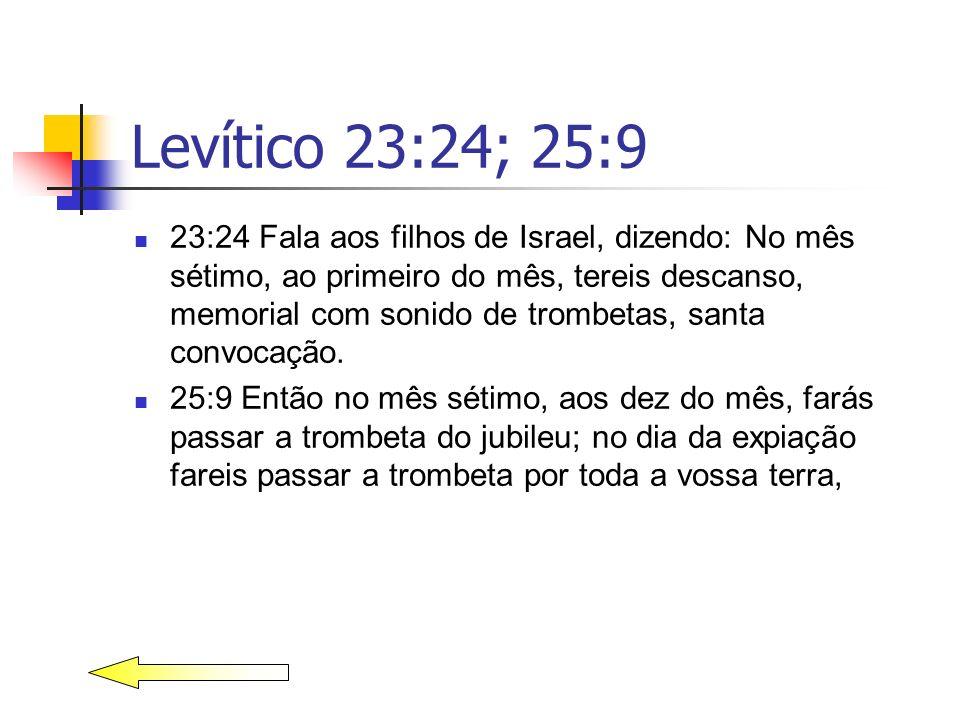 Levítico 23:24; 25:9