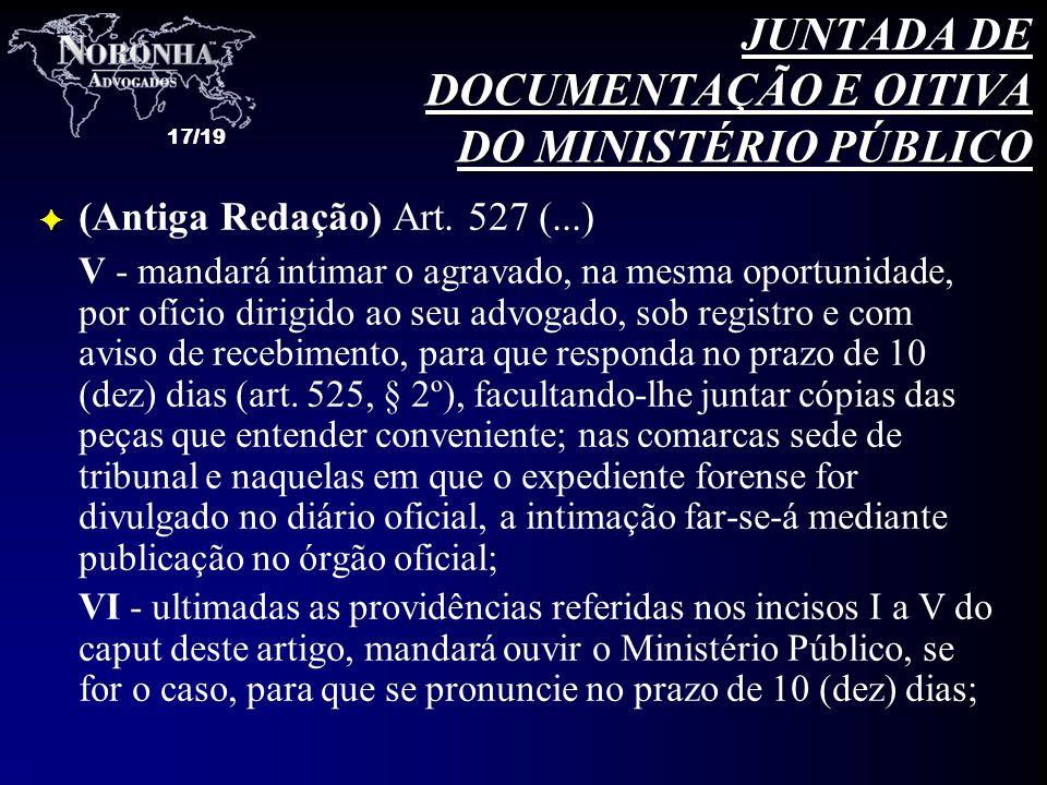 JUNTADA DE DOCUMENTAÇÃO E OITIVA DO MINISTÉRIO PÚBLICO
