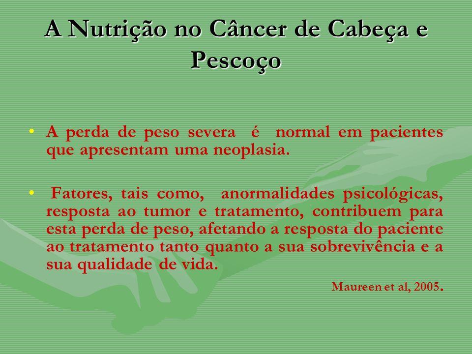 A Nutrição no Câncer de Cabeça e Pescoço