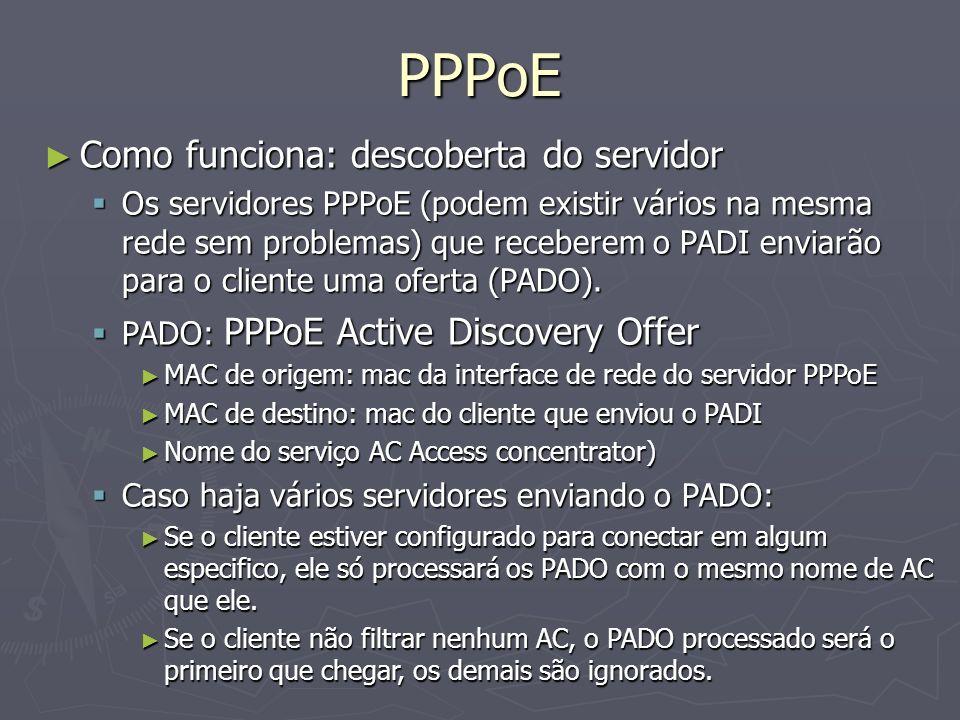 PPPoE Como funciona: descoberta do servidor