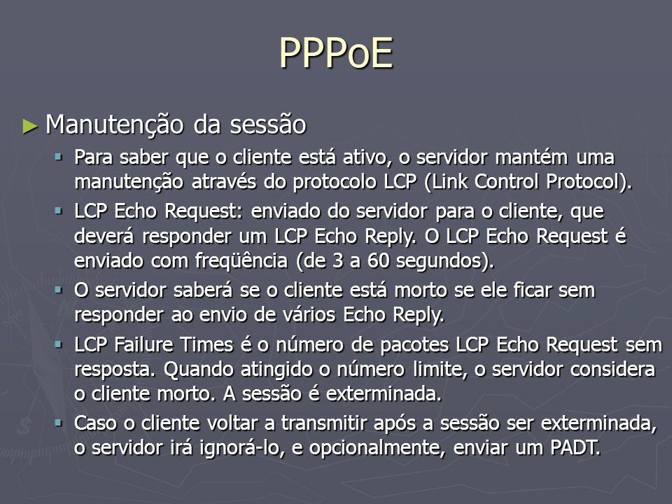 PPPoE Manutenção da sessão