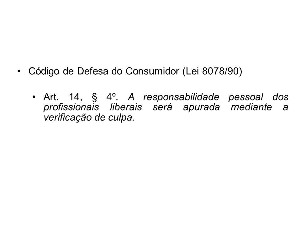Código de Defesa do Consumidor (Lei 8078/90)