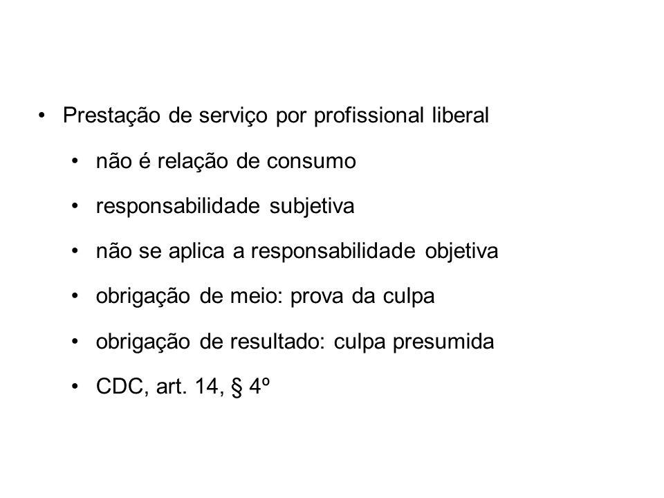 Prestação de serviço por profissional liberal