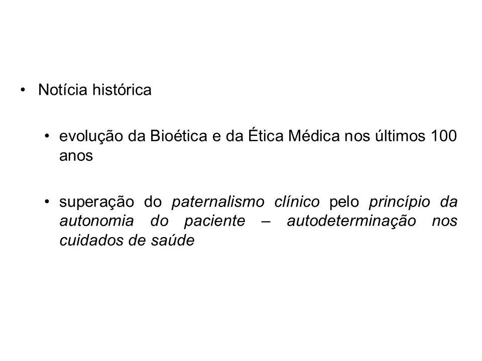 Notícia histórica evolução da Bioética e da Ética Médica nos últimos 100 anos.