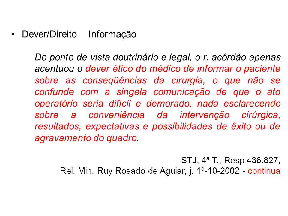 Dever/Direito – Informação