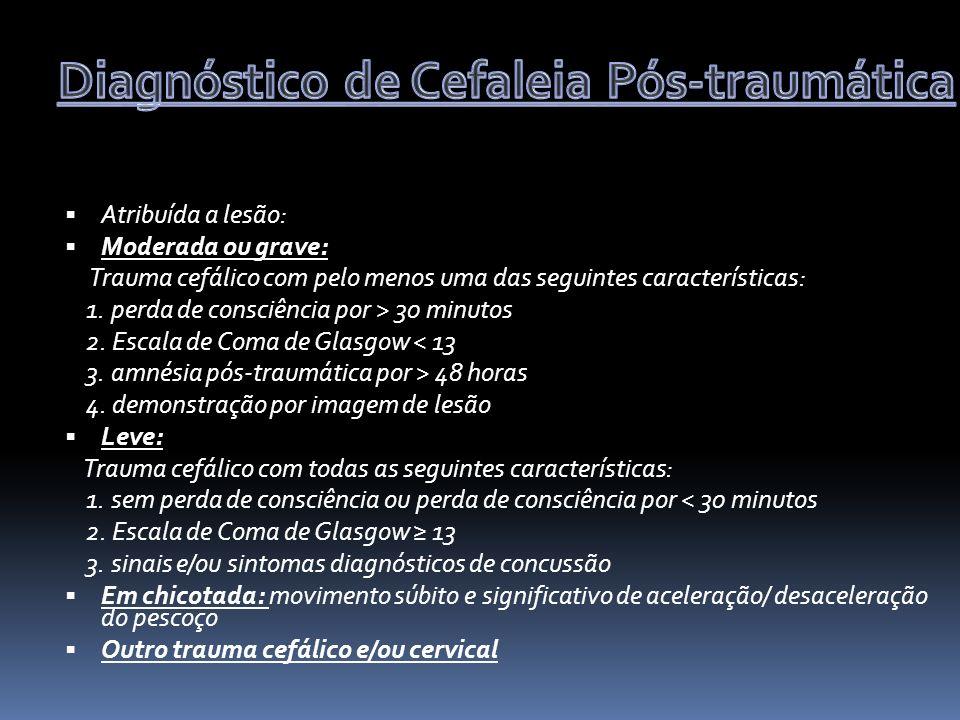Diagnóstico de Cefaleia Pós-traumática