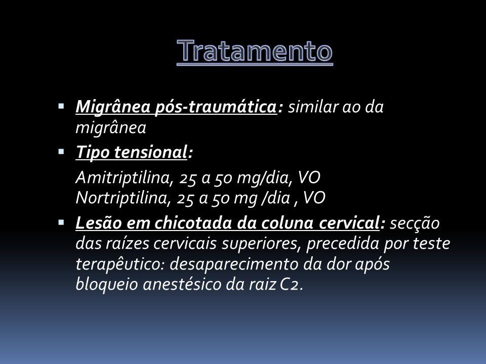 Tratamento Migrânea pós-traumática: similar ao da migrânea