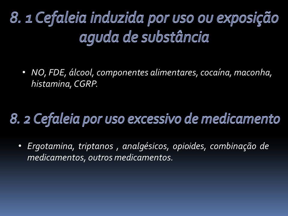 8. 1 Cefaleia induzida por uso ou exposição aguda de substância