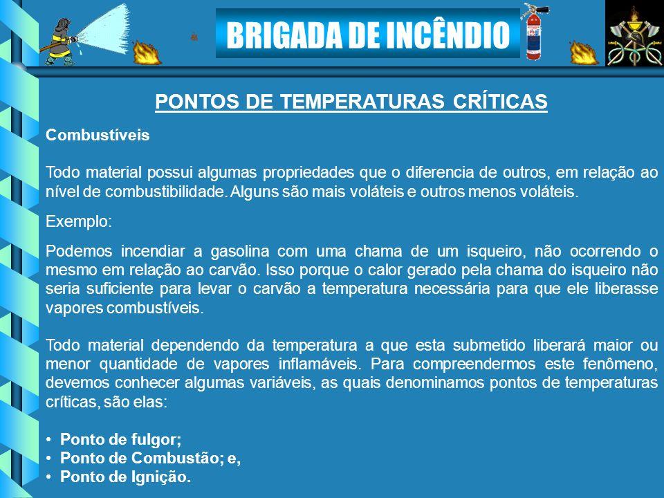 PONTOS DE TEMPERATURAS CRÍTICAS