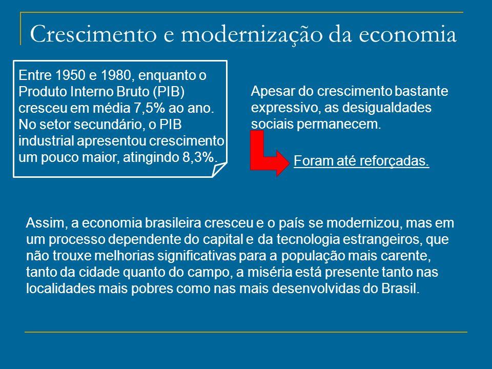 Crescimento e modernização da economia