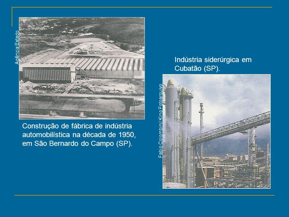 Indústria siderúrgica em Cubatão (SP).