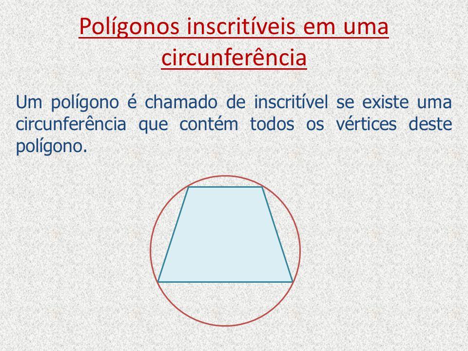 Polígonos inscritíveis em uma circunferência