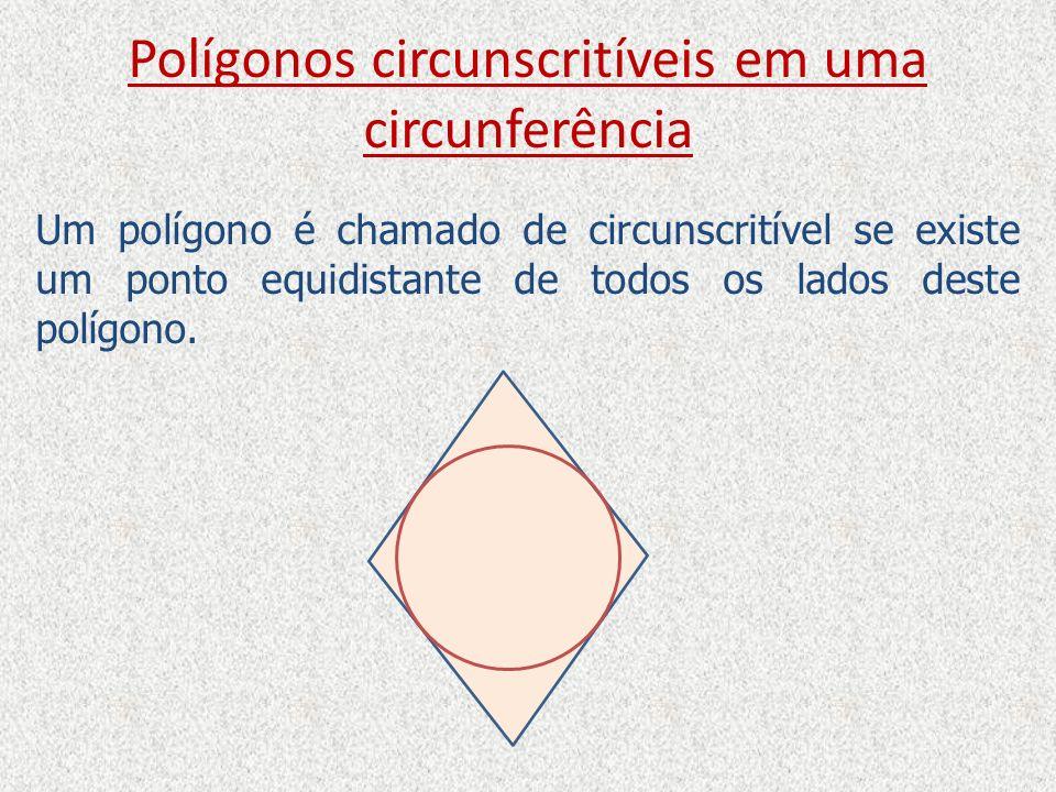 Polígonos circunscritíveis em uma circunferência