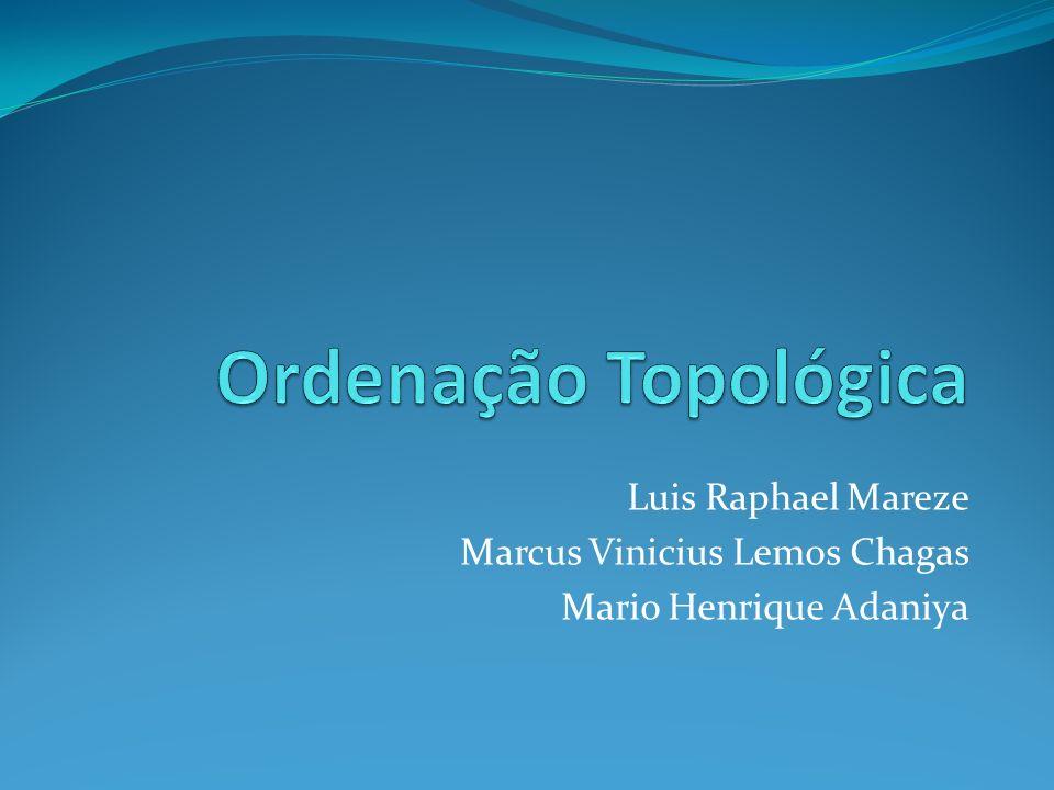 Ordenação Topológica Luis Raphael Mareze Marcus Vinicius Lemos Chagas