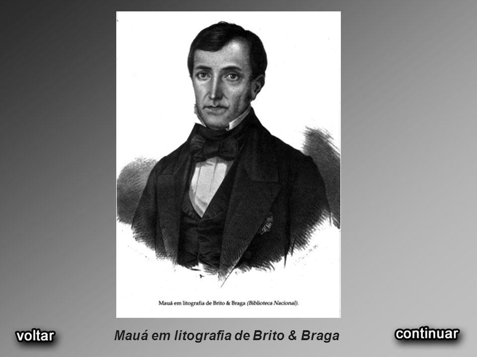 Mauá em litografia de Brito & Braga