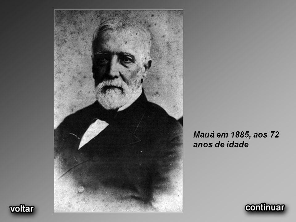 Mauá em 1885, aos 72 anos de idade