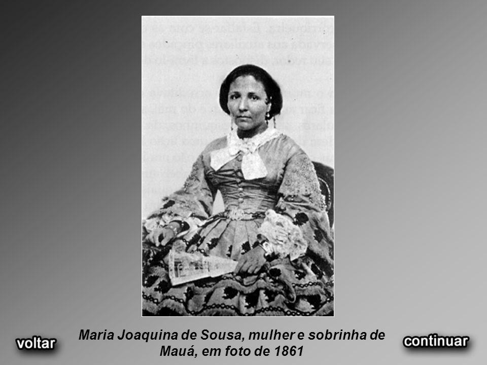 Maria Joaquina de Sousa, mulher e sobrinha de Mauá, em foto de 1861